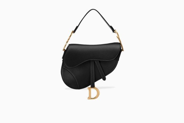 Saddle bag in black calfskin £2,350.00