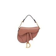 Mini Saddle bag in pink calfskin £1,850.00